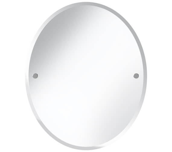 Bristan Oval 610 x 500mm Mirror With Chrome Fixings