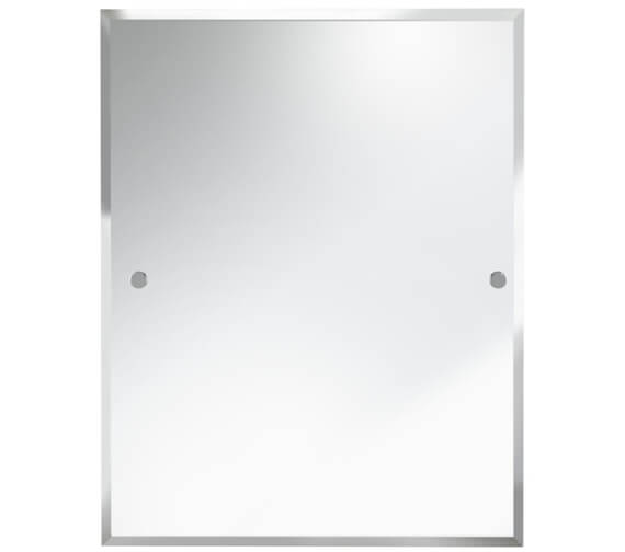 Bristan Rectangle 700 x 550mm Mirror With Chrome Fixings
