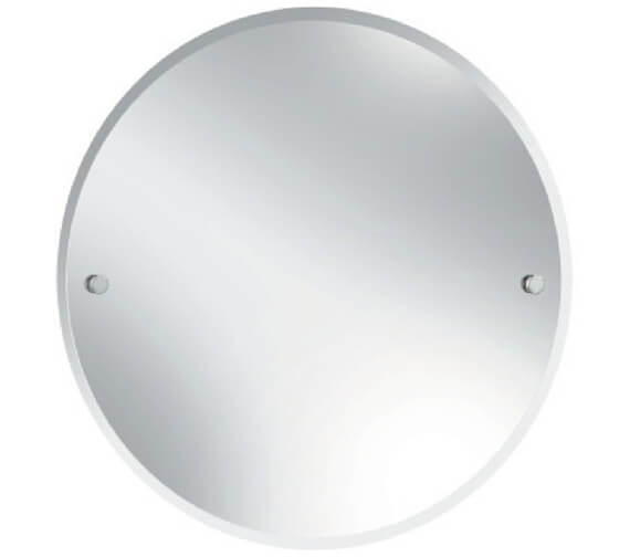 Bristan Round 610mm Mirror With Chrome Fixings