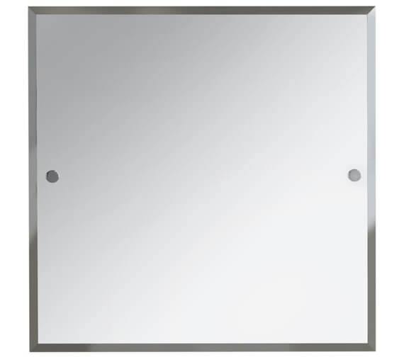 Bristan Square 600 x 600mm Mirror With Chrome Fixings