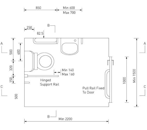 Technical drawing QS-V7780 / DOCM-T3 B