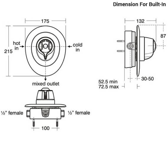 Additional image of Ideal Standard Trevi CTV Exposed Thermostatic Shower Valve - A3101AA