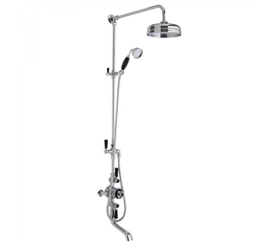 Additional image of Hudson Reed Topaz Triple Exposed Mixer Shower Valve With Rigid Riser Chrome-White