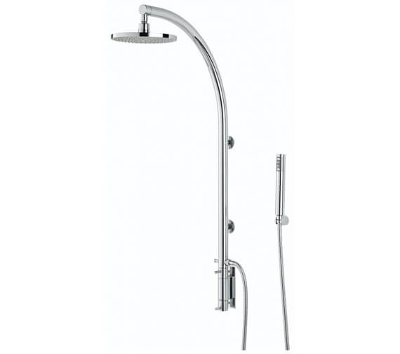Bristan Orb Chrome Thermostatic Shower Pole With Integral Diverter To Handset