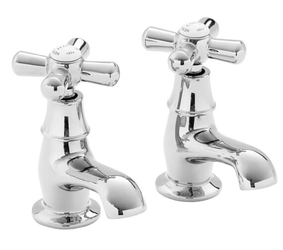 Heritage Ryde Pair Of Chrome Basin Pillar Taps