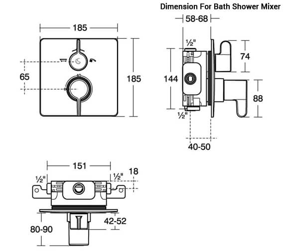 Additional image of Ideal Standard Freedom Built-In Thermostatic Shower Mixer Valve