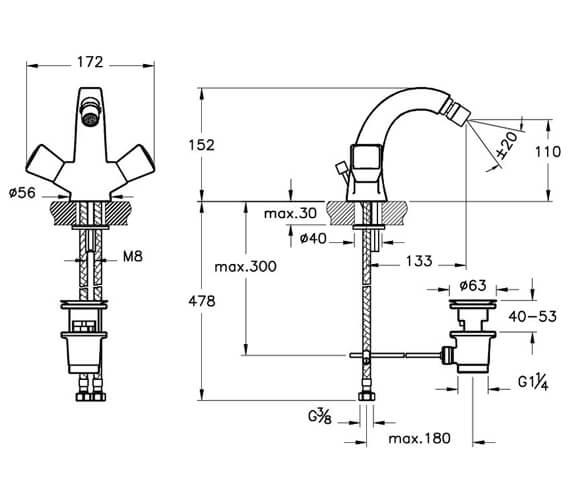 Technical drawing QS-V90489 / A42340VUK