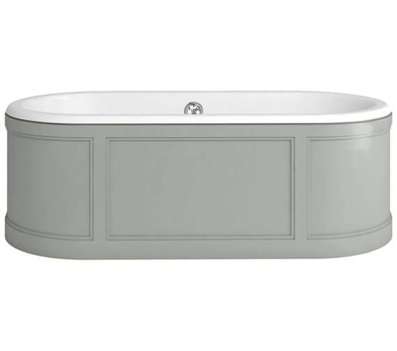 Additional image of Burlington London 1800 x 850mm Bath With Curved Surround Matt White