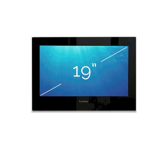 ProofVision 19 Inch Premium Widescreen Waterproof Bathroom TV With Black Finish