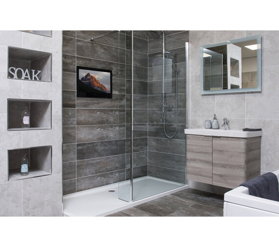 Additional image of ProofVision 19 Inch Premium Widescreen Waterproof Bathroom TV With Black Finish
