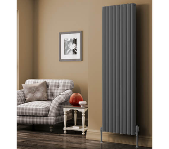 Reina Alco 1800mm High Vertical Aluminium Radiator White Or Anthracite Finish