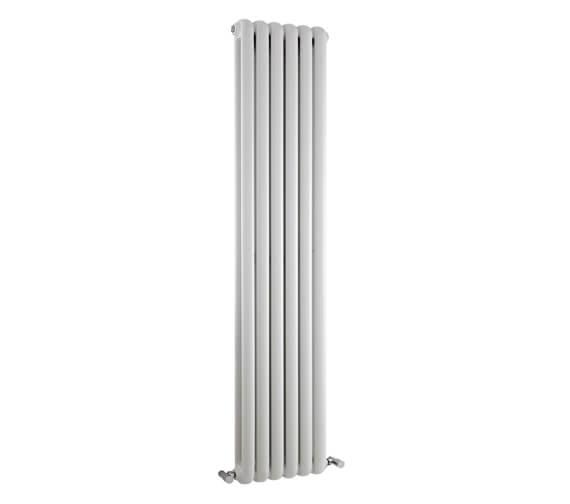 Hudson Reed Salvia 383 x 1500mm White Double Panel Vertical Designer Radiator