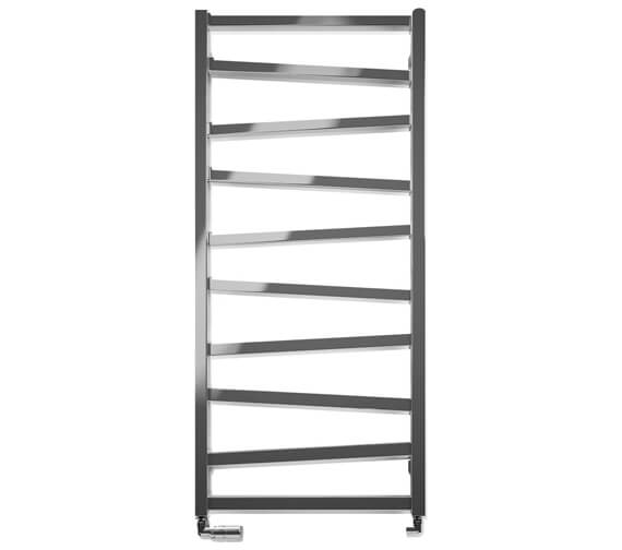 Additional image of Bauhaus Gallery Wedge 500 x 1096mm Towel Warmer Black Matte