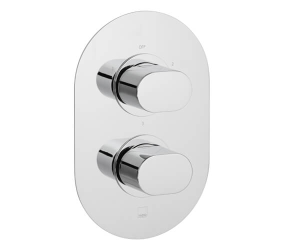 Vado Life Concealed 1 outlet 2 Handle Thermostatic Shower Valve