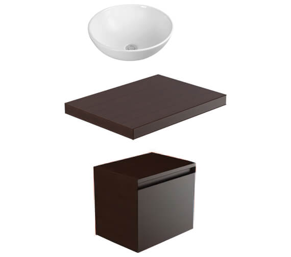 Saneux Podium 500mm 1 Drawer Unit With Worktop And Basin
