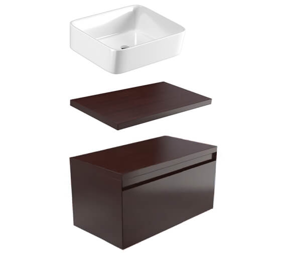 Saneux Podium 900mm 1 Drawer Unit With Worktop And Basin