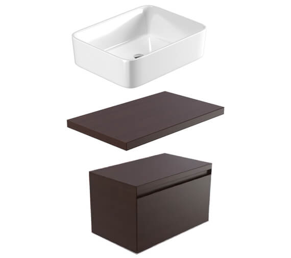 Saneux Podium 750mm 1 Drawer Unit With Worktop And Basin