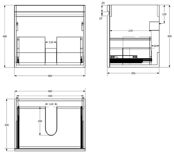 Technical drawing QS-V88166 / MA050W.WE