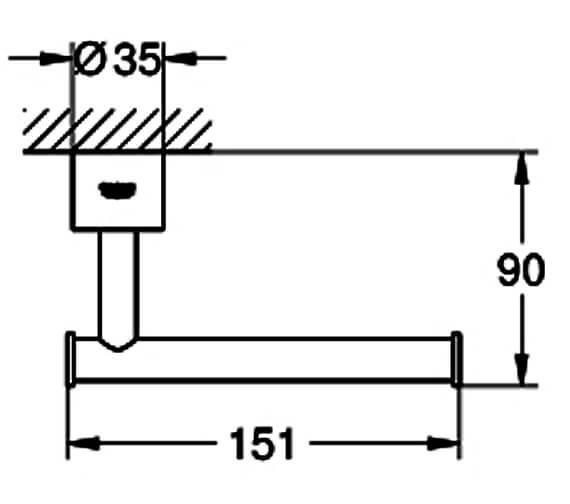 Technical drawing QS-V88990 / 40313DC3
