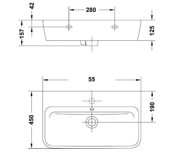 Technical drawing QS-V88258 / 60115