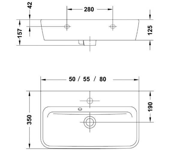 Technical drawing QS-V88261 / 60110