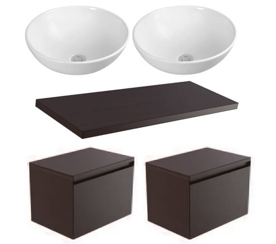 Saneux Podium 1200mm Unit With Worktop And Basin