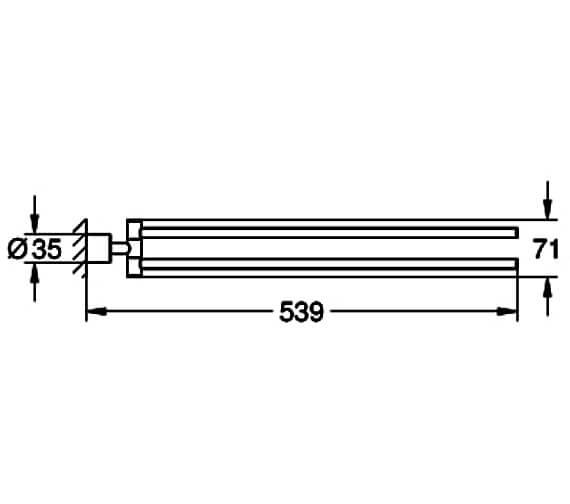 Technical drawing QS-V88987 / 40308DC3