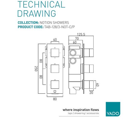 Technical drawing QS-V74621 / TAB-128/3-NOT-C/P