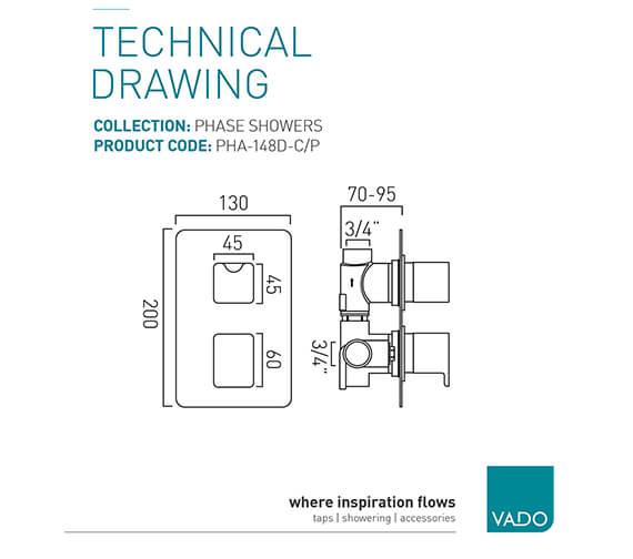 Technical drawing QS-V94115 / PHA-148D-C/P