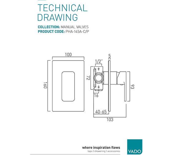 Technical drawing QS-V20564 / PHA-145A-C/P