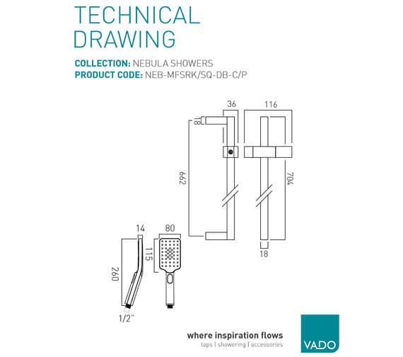 Technical drawing QS-V45799 / NEB-MFSRK/SQ-DB-C/P
