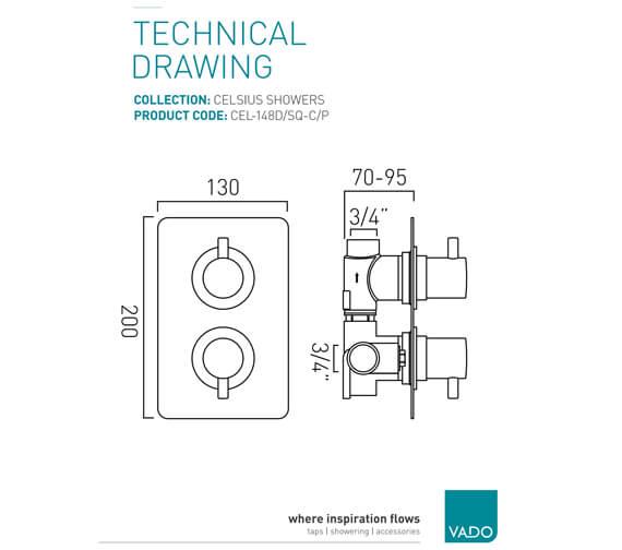 Technical drawing QS-V94113 / CEL-148D/SQ-C/P