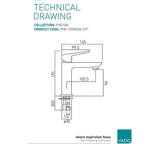 Technical drawing QS-V20569 / PHO-100M/SB-C/P