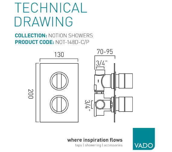 Technical drawing QS-V99010 / NOT-148D-C/P