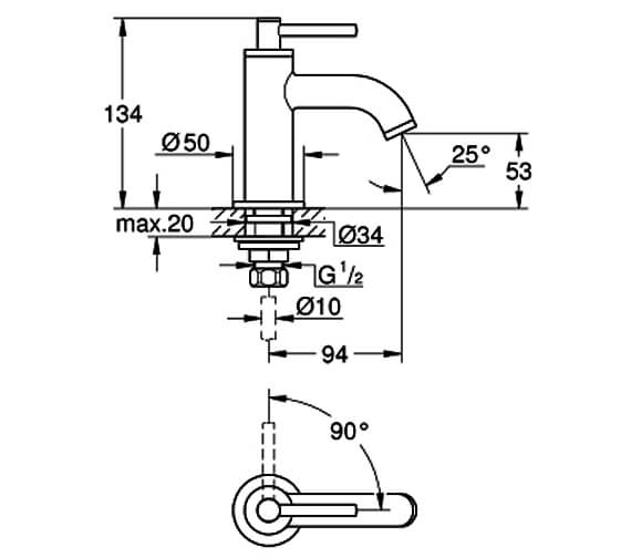 Technical drawing QS-V80908 / 20021003