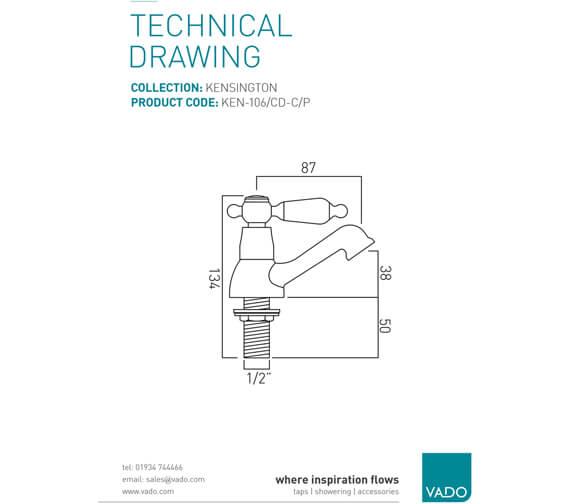 Technical drawing QS-V20609 / KEN-106/CD-C/P