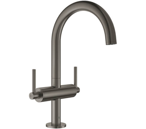 Additional image of Grohe Atrio L Size Deck Mounted Basin Mixer Tap With Push-Open Waste - Lever Handle