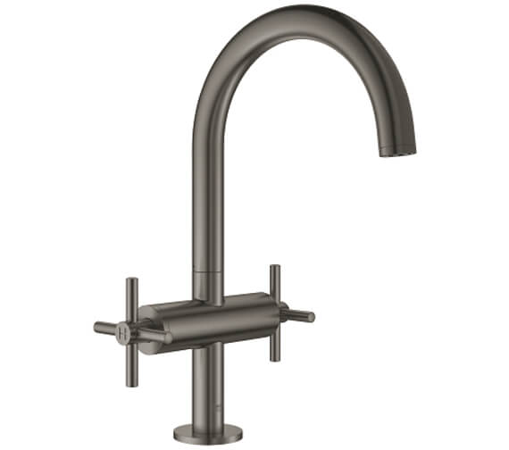 Additional image of Grohe Atrio L Size Deck Mounted Basin Mixer Tap With Push-Open Waste - Crosshed Handle