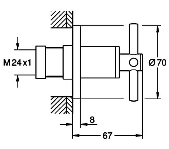 Technical drawing QS-V88913 / 19069003