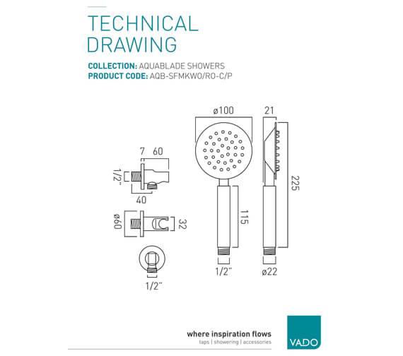 Technical drawing QS-V8328 / AQB-SFMKWO/RO-C/P