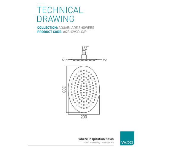 Technical drawing QS-V37369 / AQB-OV/30-C/P