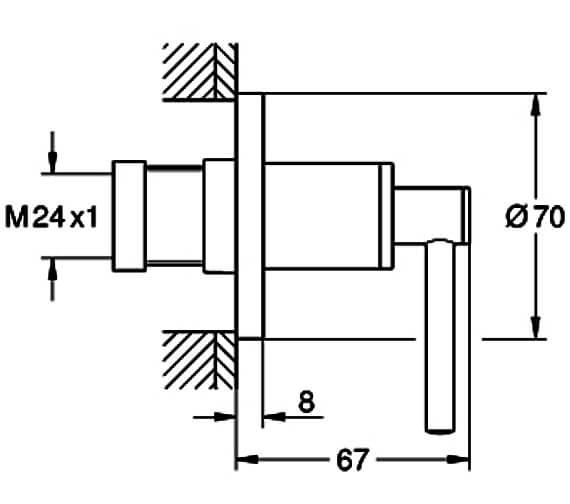 Technical drawing QS-V88914 / 19088003