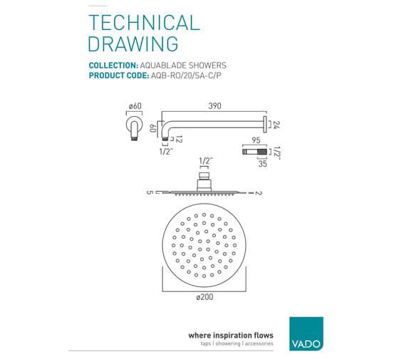 Technical drawing QS-V76489 / AQB-RO/20/SA-C/P