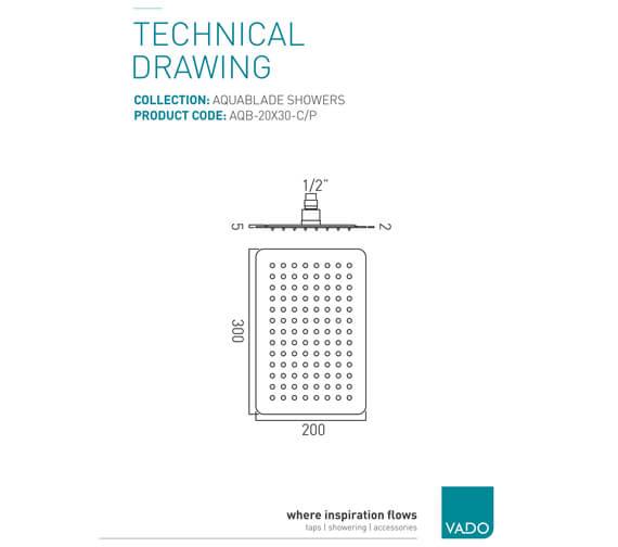 Technical drawing QS-V37295 / AQB-20x30-C/P
