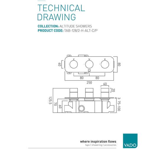 Technical drawing QS-V74672 / TAB-128/2-H-ALT-C/P