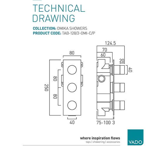 Technical drawing QS-V94007 / TAB-128/2-OMI-C/P