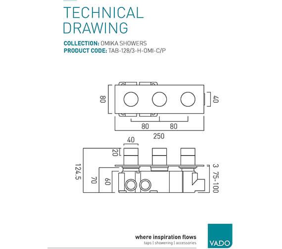 Technical drawing QS-V94023 / TAB-128/3-H-OMI-C/P