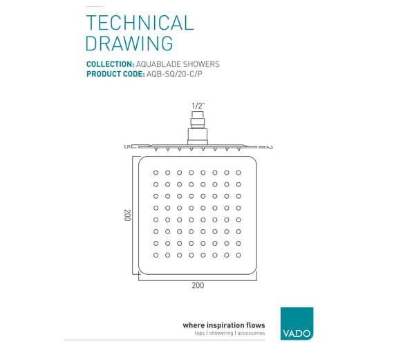 Technical drawing QS-V37387 / AQB-SQ/20-C/P