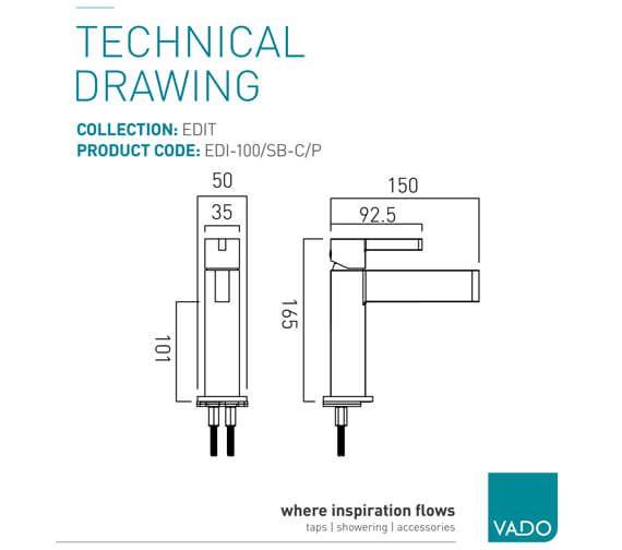 Technical drawing QS-V86453 / EDI-100/SB-C/P