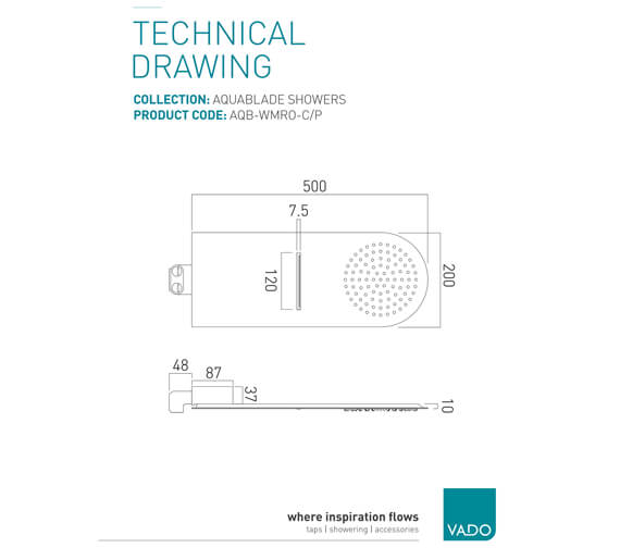 Technical drawing QS-V88042 / AQB-WMRO-C/P